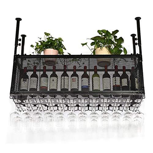 LYN-UP Portabottiglie di Vino, Espositore da Bar Calice in Metallo con Altezza Regolabile per Il...