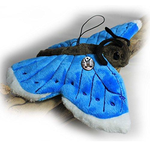 """Peluche """"Lilli"""": papillon aux ailes bleues (25cm) de kuscheltiere.biz"""