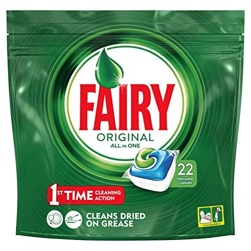 Fairy Original Detersivo In Caps per Lavastoviglie, Confezione da 22 Pastiglie