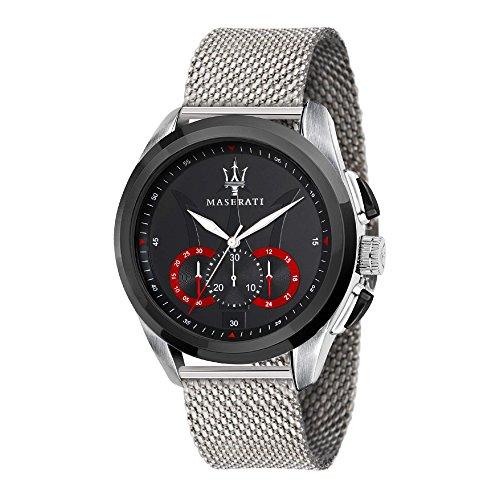 MASERATI Orologio Cronografo Quarzo Uomo con Cinturino in Acciaio Inox R8873612005