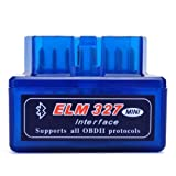 Moonar Mini ELM327 Interfaz V2.1 Bluetooth OBD-II OBD2 Auto Coche...