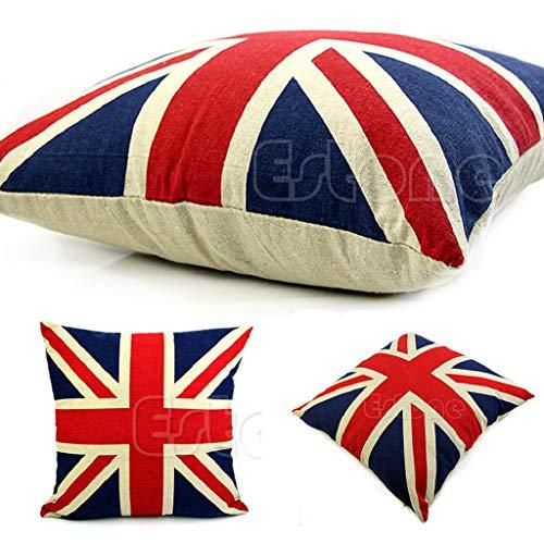 Eclife 40,6cm guanciale UK bandiera Union Jack, in casa cuscino decorativo