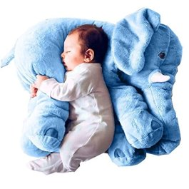 Kenmont Peluche Elefante Cuscino Animale Cuscini Giocattoli per Bambino, Bambini, Adulti, Regali, De
