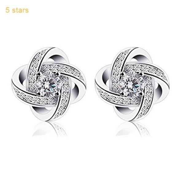 9970ec943 B.Catcher Women Earrings Studs Sterling Silver Cubic Zirconia Gemini Earring  Sets