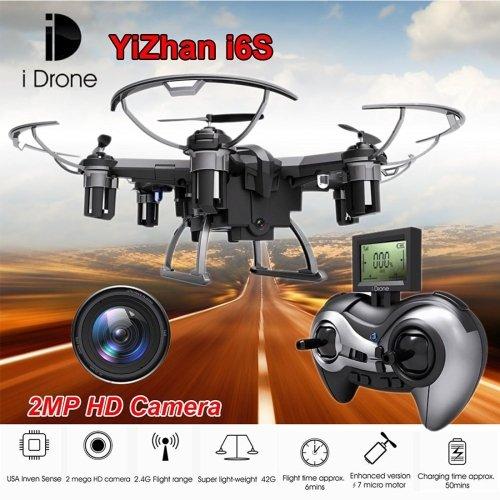 Yizhan i Drone I6S 6-assi Gyro 4-Canali 2.4GHz RC Mini Quadricottero Drone con 2.0MP Camera & Telecomando