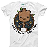 Kanto Factory T-Shirt Les Gardiens de la Galaxie Groot Sauve la Galaxie, Plante Un Arbre/Guardians of The Galaxy Save The Galaxy, Plant a Tree (L)