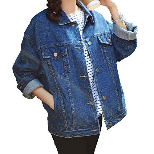 SHAREWIN Blue Denim Jacket For Women b27c11d65c