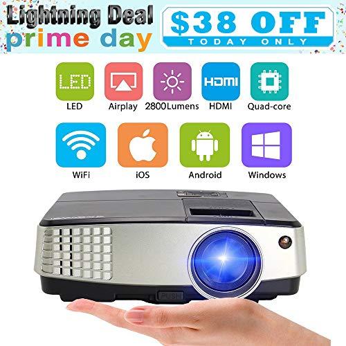 Mini proiettore 2800 lumen, videoproiettore portatile Proiettori Home Theater Supporta 1080P Full...