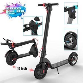 Braveking1 Patinete Eléctrico E Scooter Plegable con Pantalla LCD, 350 Vatios Potente Motor, Alcance de 20 Km, 3 Modos de Velocidad Velocidad Máx 32 km/h, MAX Load 125kg para Adolescentes y Adultos