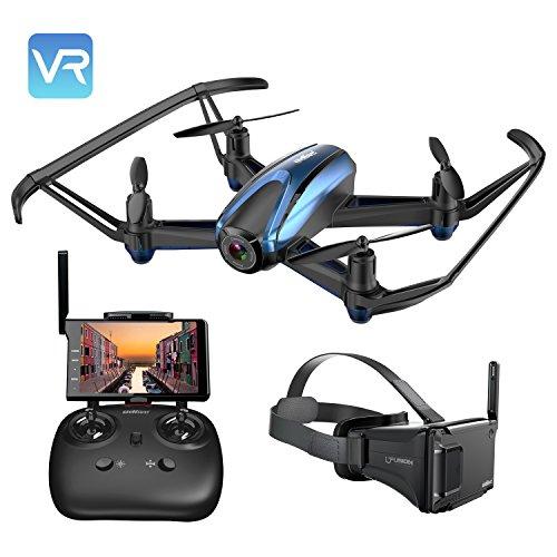 UDIRC Drone VR e Fotocamera 720P HD Professionale ,Drone RC Funzione di Sospensione Altitudine ,modalità Senza Testa,Allarme di Fuori la Gamma di Volo,FPV LCD Monitore a Schermo da 5.8Ghz