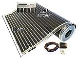 Calorique Infrarot Heizfolie Elektrische Fußbodenheizung 50 cm Set 220 W/m² 1,0 m² - effiziente und kostengünstige Heizung für Neubau oder Altbau-Sanierung