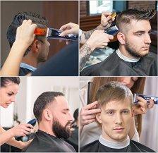 HATTEKER-Cortapelos-Cortapelo-Mquina-Cortar-Pelo-Profesional-para-Hombres-Recortador-de-barba-con-Batera-Recargable-y-Pantalla-LCD