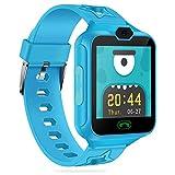 Smartwatch Kinder, AGPTEK Telefon Uhr, Touchscreen Watch Phone mit Musik Player, Kamera, 7 Spielen, Wecker für Mädchen Jungen, Geschenk für Geburtstag, Weihnachten und Neujahr mit 8GB SD Karte, Blau