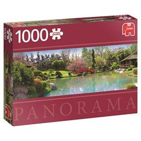 Jumbo- Colourful Garden pcs Panorama Jardín de Colores, Puzzle de 1000 Piezas (618571)