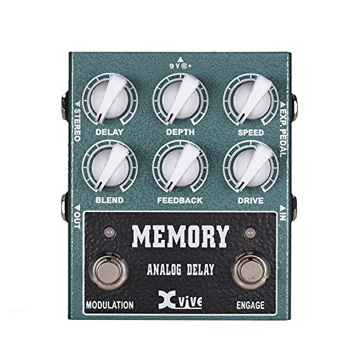 XVIVE W3 MEMORY Analog Delay Guitar Effect Pedal 600ms Delay Time True Bypass Rich Modulation Wide Bandwidth