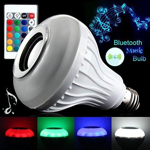 Esca LED Color Bulb Light B22 Bluetooth Control Smart Music Audio Speaker Lamps (12)