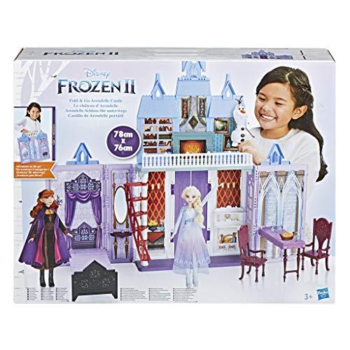Disney Frozen 2 - Castello di Arendelle Pieghevole, Casa Delle Bambole Ispirata al Film Disney Frozen 2, Gioco Portatile Adatto A Bambini dai 3 Anni in Su
