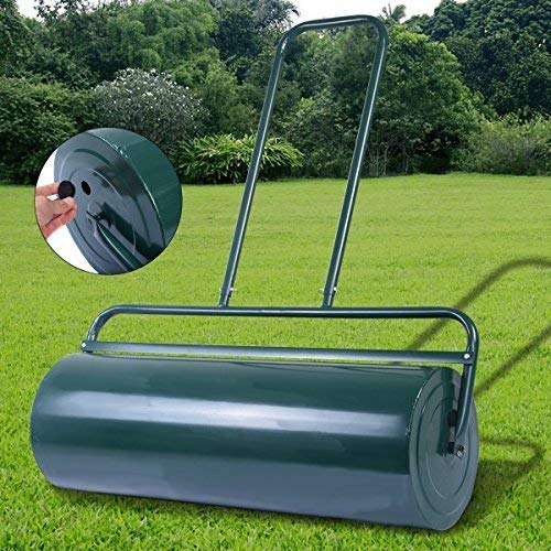Do you need a wide roller? Look no further than the COSTWAY Garden Grass Roller. The galvanised steel lawn roller comes in two sizes, the 48L, and 63L model. The manufacturers sought a design that could manoeuvre tight corners while still offering enough surface area to be pulled by a tractor in large lawns. Additionally, the design features smooth rolls that are intended not to harm the grass while taking turns/corners.