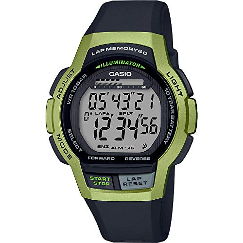 Casio Orologio Cronografo Digitale Unisex Adulto con Cinturino in Resina WS-1000H-3AVEF