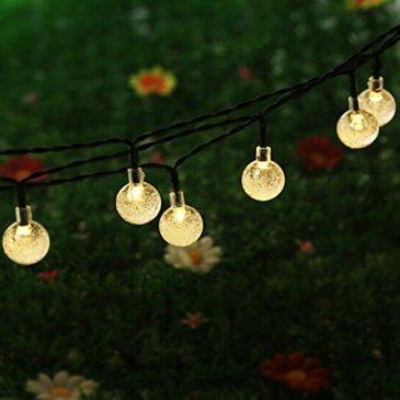 Guirlande lumineuse Solaire, KEEDA 6M 30 Boules LED Étanche Guirlande Lumineuse Extérieure Ornement Lumière Noël décorative pour Extérieure, Jardin, Maison, Patio