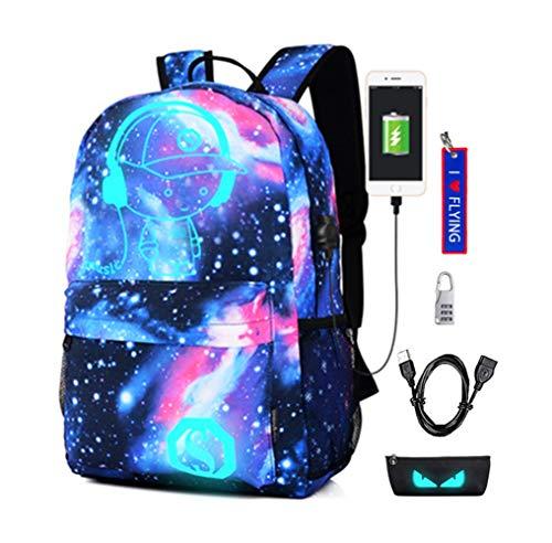 Zaino di svago Zaino luminoso con porta USB di ricarica Borsa scolastica 35L Galaxy Daypac Sotto lo...