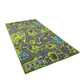 Car Rug Kid para Toy Cars Playroom y Classroom Multi Color Activity Centerp Play Mat Alfombra de juego segura y…