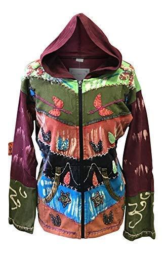 Shopoholic Mujer Grunge EMO Gótico Oxidado Hippy Sudadera con Capucha - Turquesa, M