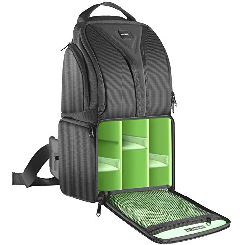 Neewer Zaino Backpack a Monospalla Nero (Verde all'interno), 22x15x(22+20)cm Impermeabile Leggero &...