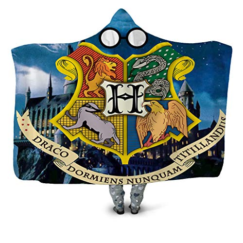 DNAN coperta Con Cappuccio con Stampa 3D, Serie Harry Potter Doppio Strato Spesso Peluche Gettabile...