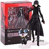 Yvonnezhang Persona 5 Joker Akira Kurusu & Morgana Figure Action Jouet modèle de Collection en PVC Figma 363 MaxFactory, avec boîte