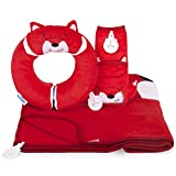 Trunki Red Snuggle Bundle Felix Yondi Travel Pillow/SnooziHedz Blanket/Seatbelt Pad