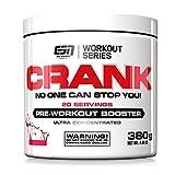 ESN Crank, Pre-Workout Booster, Cola, Workout Series, Dose mit Dosierlöffel, 1er Pack (1 x 380 g)
