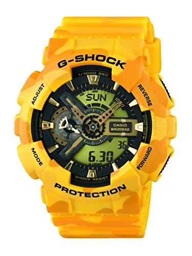 Casio Herren-Armbanduhr XL G-Shock Analog - Digital Quarz Resin GA-110CM-9AER
