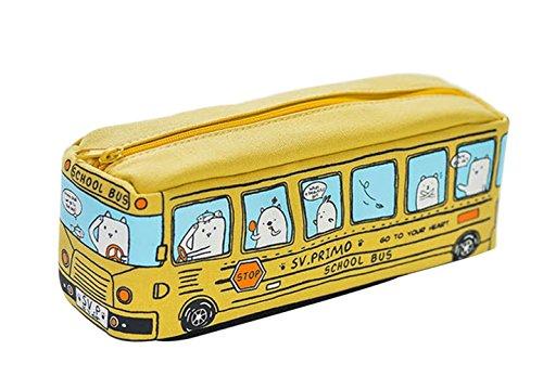 TREESTAR Astuccio Scuola di Cartone Autobus Penna Borsa Matita Borsa Astucci Tumblr con Cerniera...