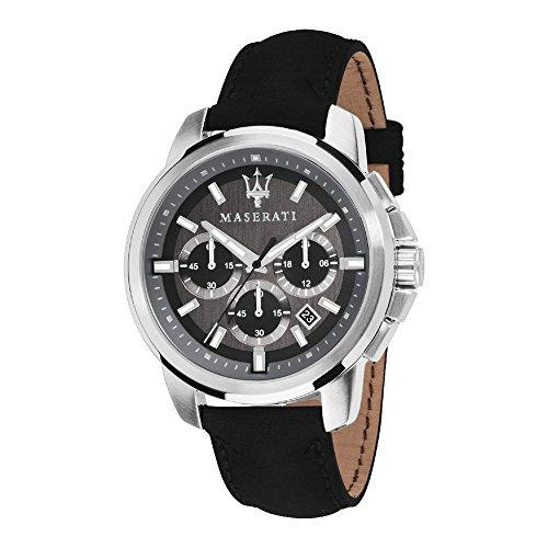 MASERATI Orologio Cronografo Quarzo Uomo con Cinturino in Pelle R8871621006