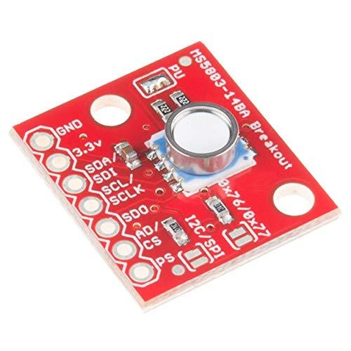 Dailyinshop GY-MS5803-14BA del Liquido di Pressione del Gas Sensore Breakout Module per Arduino,Rosso