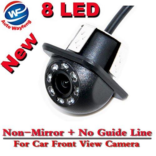 Auto Wayfeng WF Telecamera Frontale Visione Notturna a 8 LED Impermeabile (Non Speculare e Senza Linee Guida)