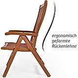 """Deuba Gartenstuhl Klappstuhl Hochlehner """"Vanamo"""" - 4"""