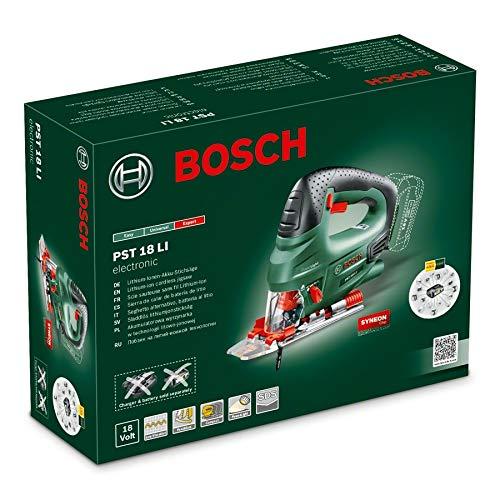 Bosch PST 18 LI Scie Sauteuse sans Fil Outil Seul sans Batterie, Technologie Syneon