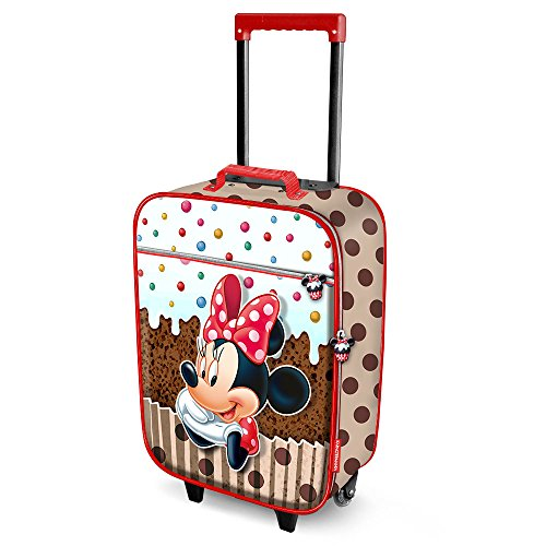Karactermania Minnie Mouse Muffin-Soft 3D Trolley Suitcase Valigia per bambini, 52 cm, 23 liters,...