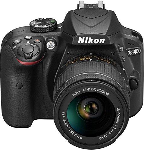 Nikon D3400 con Lente Nikkor AF-P 18/55VR, Fotocamera Reflex Digitale, 24,7 Megapixel, LCD 3',...