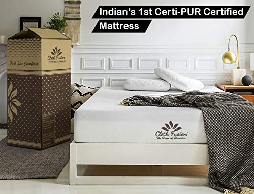 "Cloth Fusion Fruton 2nd Gen 6 inch Gel Memory Foam Mattress for Queen Size Bed (75"" x 60"" x 6"", White)"