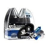 LETRONIX Halogen Auto Lampen H7 12V 8500K Kalt Weiß Xenon Optik Gas Ultra White Look Birnen Lampe Abblendlicht Nebelscheinwerfer Fernlicht Kurvenlicht Zulassung E-Prüfzeichen (LED Optik) (H7 55W)