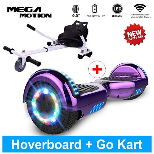 Mega Motion Hoverboard Colorata LED Luci con Bluetooth Musica Altoparlante per bambini e adulti...
