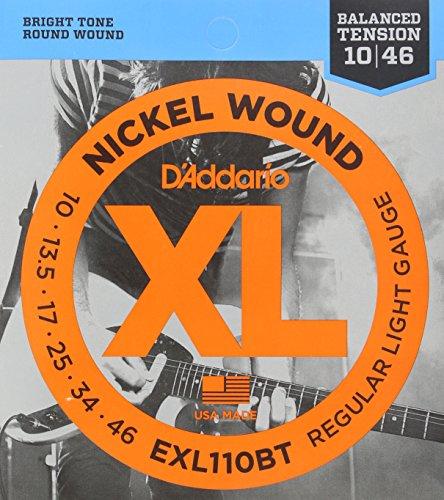D'Addario EXL110BT Balanced Tension Regular Light Nickel Wound Electric Guitar Strings, 10-46