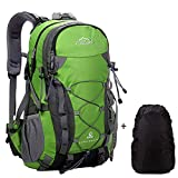 Zaino Sportive Trekking Impermeabile 40L Traspirante Spalla Zaino Viaggio Escursioni Alpinismo Arrampicata Zaino Unisex Zainetto All'Aperto Verde