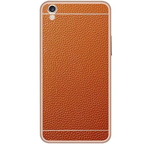 SCSY-Cas de la mode étui de Protection arrière Coque en Cuir véritable téléphone Coque Coque pour Oppo r9 Plus (Color : Brown) 4