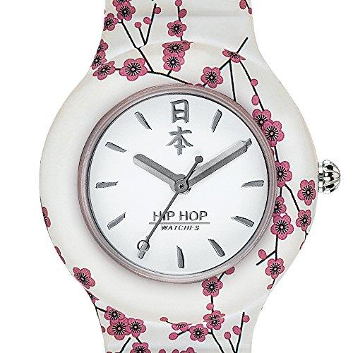 Hip Hop Watches - Orologio da Donna Hip Hop White HWU0864 - Collezione I Love Japan - Cinturino in...