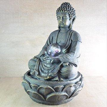 Zen Luz SCFR 8G Buddha Fuente Meditación Gran Interior Marrón Oscuro/Chocolate 21 x 21 x 30 cm 4