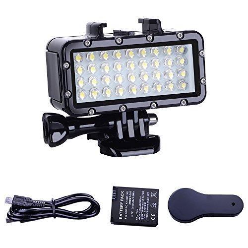 Suptig impermeabile Diving luce ad alta potenza LED video fill luce notturna luce immersione impermeabile 44,8m (45m) per GoPro Hero 6/5/5S/4/4S/3/2/SJCAM/Yi Action Camera